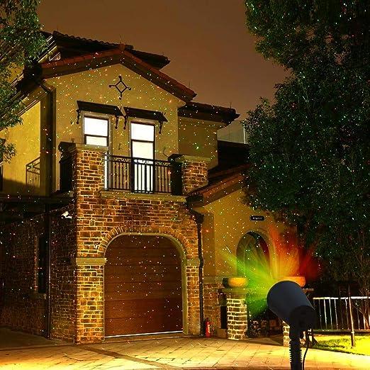 Weihnachtsbeleuchtung Mit Fernbedienung.Qedertek Led Projektionslampe Weihnachtsbeleuchtung Mit Fernbedienung Rot Grün Dynamik Lichteffekte Metall Für Innen Und Außenbereich
