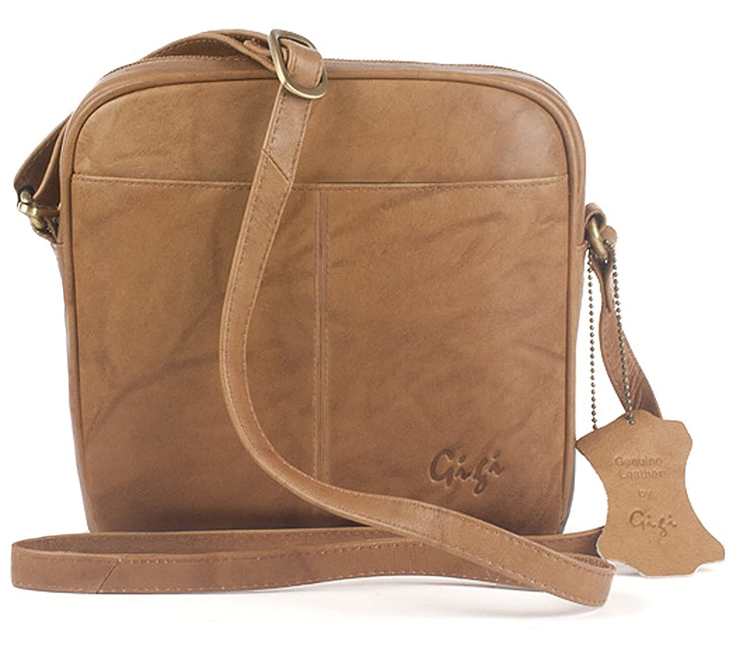 21caf4d467 Gigi - Women s Small Leather Cross Body Handbag - Shoulder Bag with Long  Adjustable Strap - OTHELLO 22-29 - Antique Honey  Amazon.co.uk  Shoes   Bags