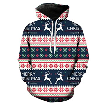 Sudaderas con capucha para hombre, Navidad Tallas grandes Hombres Nieve Invierno Moda Casual Cálido Suelta