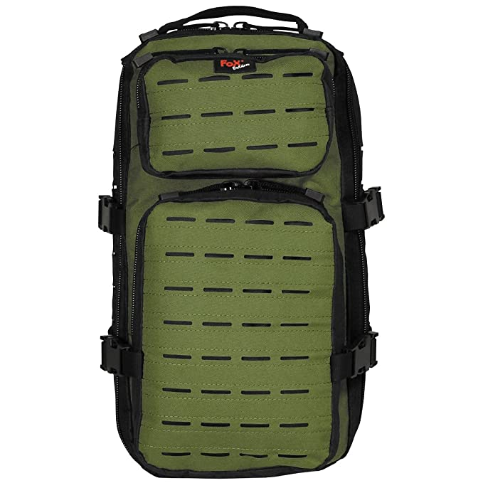 Fox Outdoor Assault-Travel Mochila Negro/OD Verde: Amazon.es: Deportes y aire libre