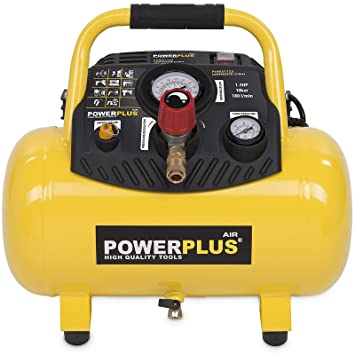 Varo-Compresor de aire sin aceite, presión máxima de 8 a 10 bar, reserva de diferentes tamaños (6-50 L), amarillo: Amazon.es: Bricolaje y herramientas