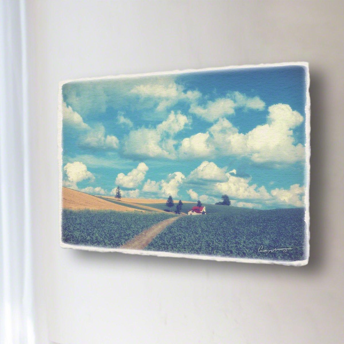 和紙 アートパネル 「夏の雲とジャガイモ畑と赤い家へと続く道」 (54x36cm) 絵 絵画 壁掛け 壁飾り インテリア アート B07F5FK2WW 15.アートパネル(長辺54cm) 29800円|夏の雲とジャガイモ畑と赤い家へと続く道 夏の雲とジャガイモ畑と赤い家へと続く道 15.アートパネル(長辺54cm) 29800円