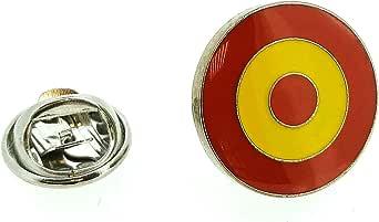 Gemelolandia | Pin de Solapa Escarapela Española Modelo 2 - RAF Española | Pines Originales Para Regalar | Para las Camisas, la Ropa o para tu Mochila | Detalles Divertidos