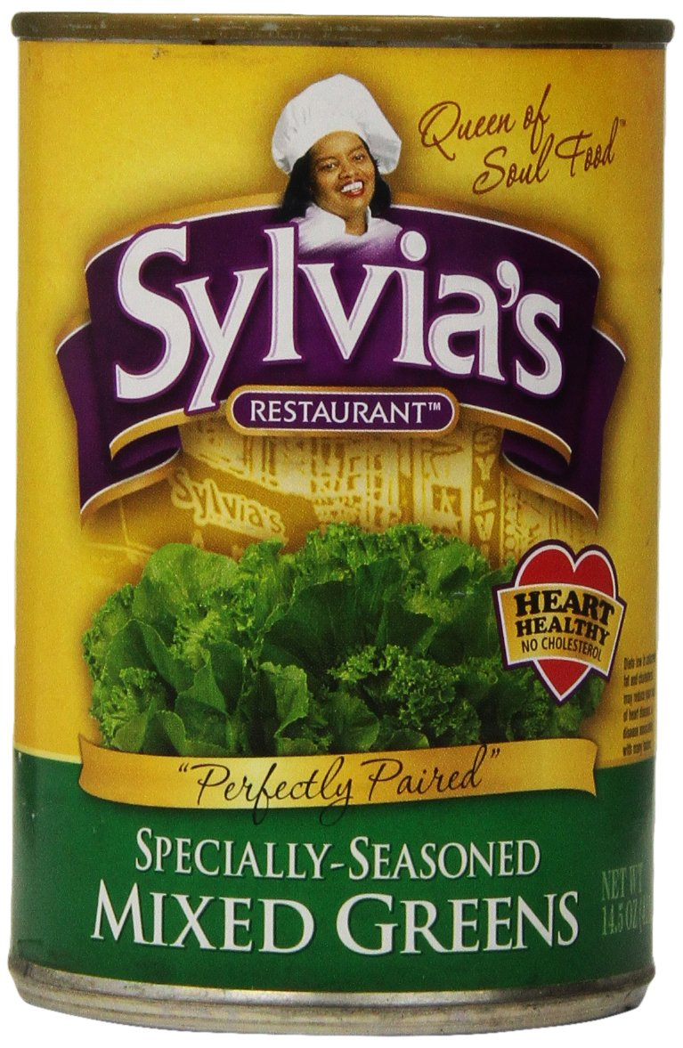 Sylvia's Mixed Greens, 14.5 Ounce Packages (Pack of 12)
