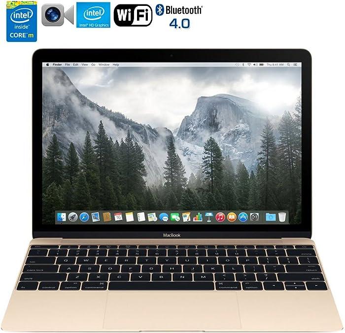 Apple MacBook MK4M2LL/A 12-Inch Laptop with Retina Display 256GB (Gold) - (Renewed)