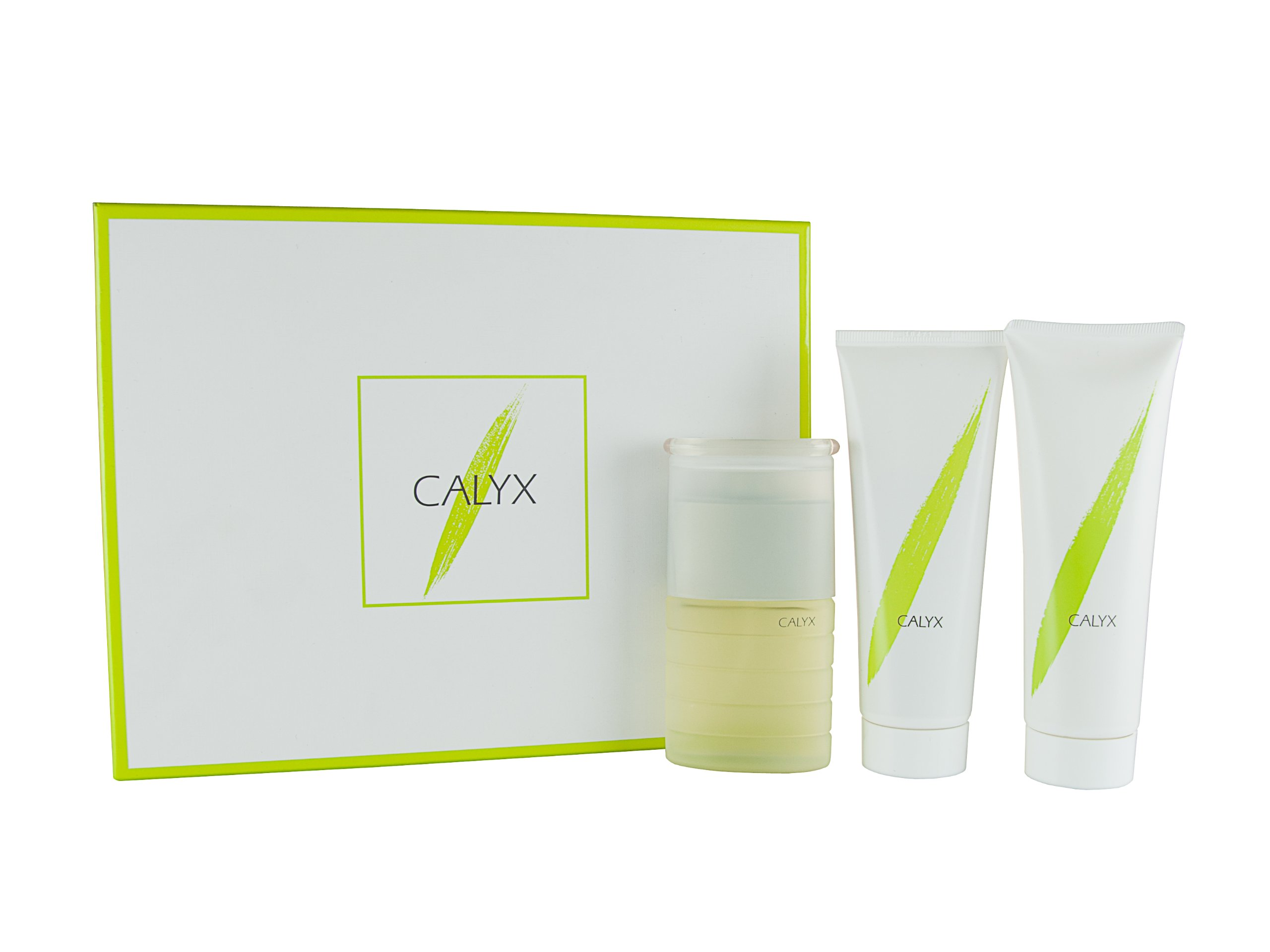 Calyx 3 Piece Set By Prescriptives for Women. 1.7 Oz Spray, 3.4 Oz Body Lotion, 3.4 Oz Shower Gel