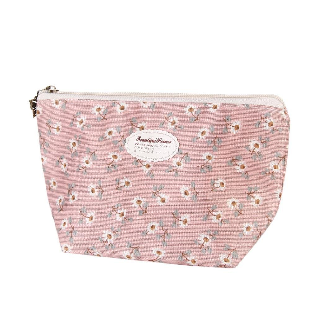 Covermason Multifunctional Portable Makeup Pouch Travel Cosmetic/Storage/Toiletry Bag Pencil Case A (Pink)