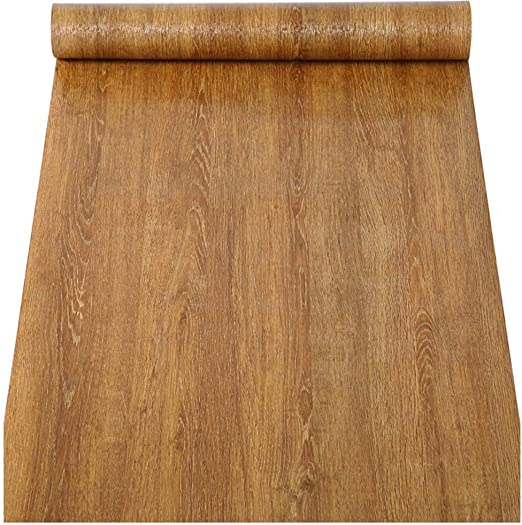 Vintage Wood Grain Self Adhesive Contact Paper Wallpaper Kitchen Cupboard Cover