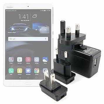 DURAGADGET Kit De Adaptadores con Cargador para Tablet Lenovo Yoga Tab 3 Plus/Miix 510 / Archos 133 Oxygen/Huawei MediaPad M3 - ¡para Que Pueda ...