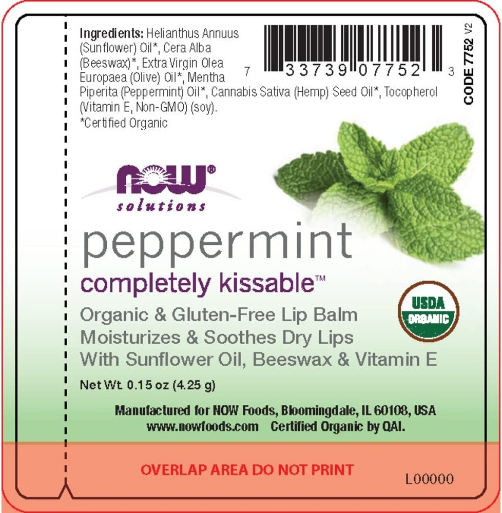 NOW Foods – Peppermint Completely Kissable Lip Balm 32 Count 0.15 Ounces
