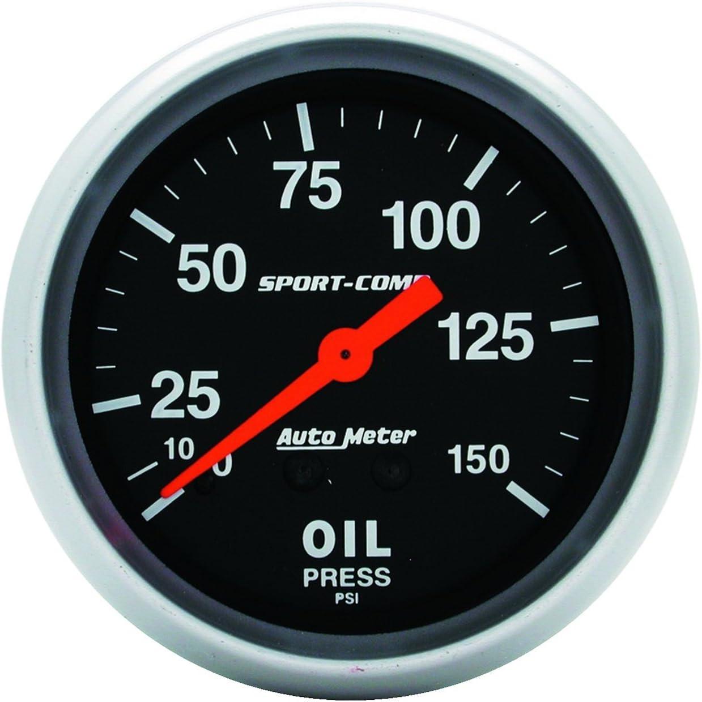 Auto Meter 3423 Sport-Comp Mechanical Oil Pressure Gauge
