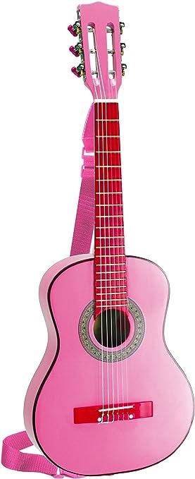 Bontempi GSW 7571/S - Guitarra de madera con la correa y pegatinas ...