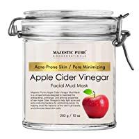 Apple Cider Vinegar Facial Mask by Majestic Pure - Face Mud Mask for Pore Minimizing...