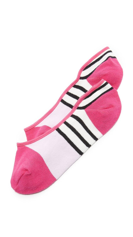 Kate Spade New York Women's Scuba Stripes Liner Socks Black One Size