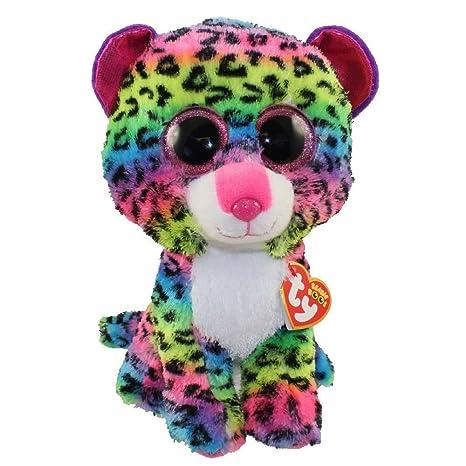 0377d216a4c Amazon.com  TY Beanie Boos - DOTTY the Rainbow Leopard (Glitter Eyes ...