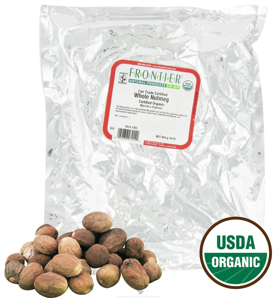 Frontier Natural Products Nutmeg, Whole 1.0000 LB