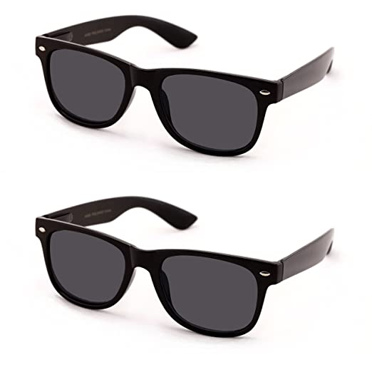 21ad79aca03 V.W.E Classic Outdoor Reading Sunglasses - Comfortable Stylish Simple  Readers Rx Magnification - Not Bifocal