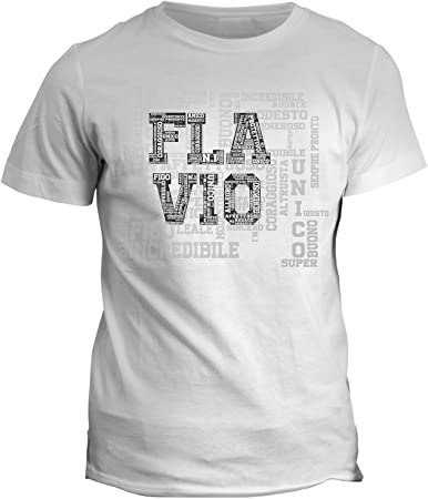 fashwork Tshirt cumpleaños Flavio Nombre del festeggiato Camiseta Única y Original – Eventos – Idea Regalo – de ...