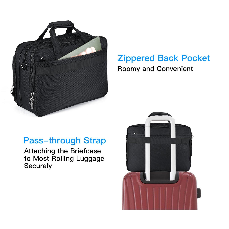 15.6 inch Laptop Briefcase, Expandable Large Shoulder Bag with Adjustable Shoulder Strap for Business Travel College Office Multi-function Shockproof Case Waterproof Messenger Handbag by Welist (Image #5)
