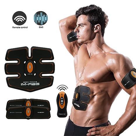 Abdominal Muscle toner ABS Trainer ABS Fit allenamento addominale tonificazione  muscolare toner training Gear wireless muscolare 2bfc19eba00