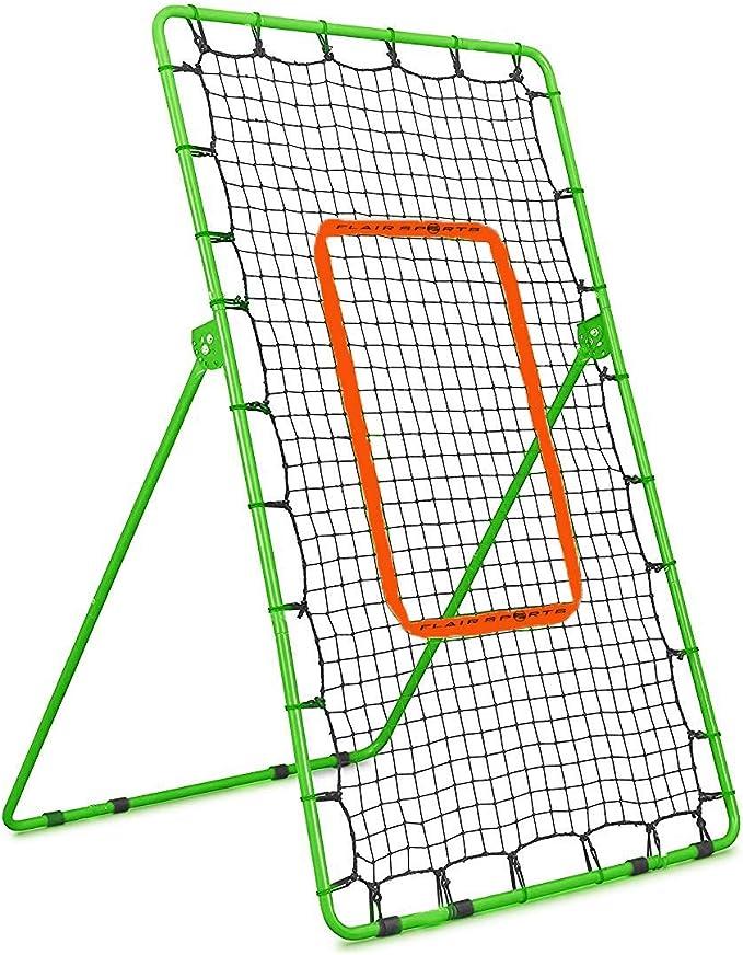 Flair Sports Pitch Back Rebound Net - Multi-Purpose Adjustable Rebounder
