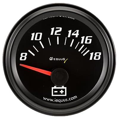 """Equus 6268 2"""" Voltmeter, Black: Automotive"""