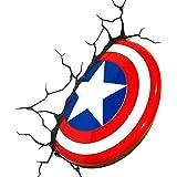 OZSHOP Captain America Shield Plastic 3D Deco Wall Night LED Light