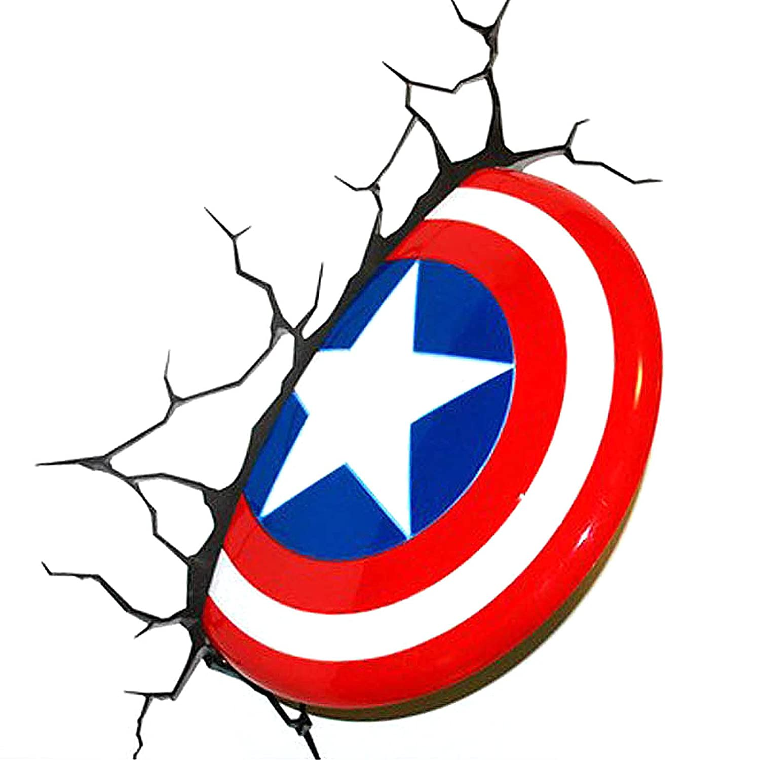 Captain America Shield Plastic 3D Deco Wall Night LED Light