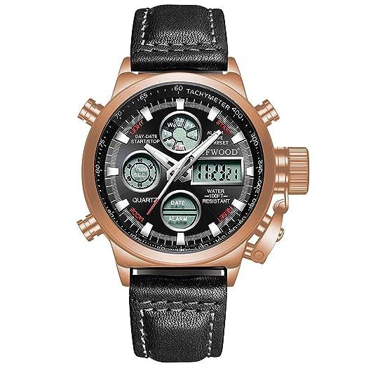 Reloj de Pulsera Deportivo para Hombres, con Cuarzo analógico Digital, para Hombres. Cronógrafo multifunción: Amazon.es: Relojes