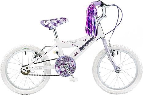 Concept - Bicicleta para niña, 16 Pulgadas, Color Blanco y Violeta ...