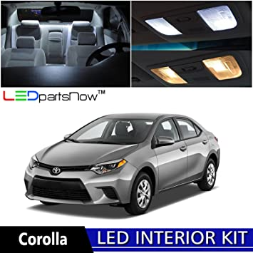 Amazon.com: LEDpartsNow 2015 2018 Toyota Corolla LED Interior Lights  Accessories Replacement Package Kit (6 Pieces), WHITE: Automotive