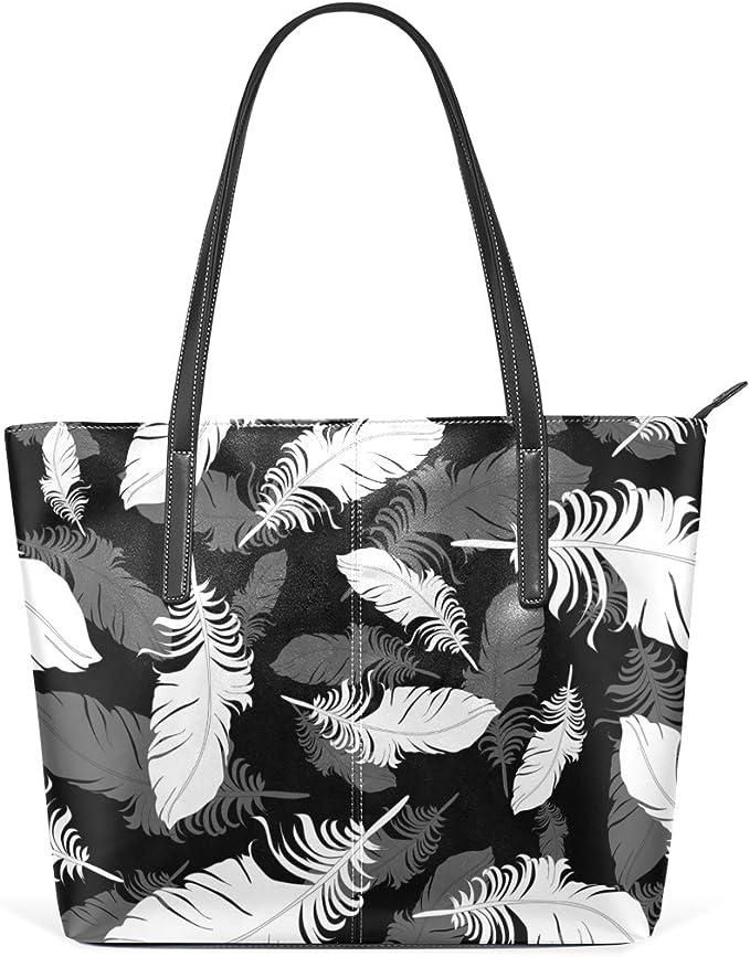 COOSUN Bianco Blu e note musicali sfondo Cuoio Borsa a tracolla della borsa e borse Tote Bag per le donne medio muticolour