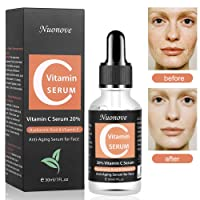 Vitamin C Serum, Hyaluronic Acid Serum, Anti-Aging Serum,Hydration Moisturiser for the face, Best Pure Hyaluronic Acid Moisturiser for Face, Plumps and smoothes fine lines and wrinkles, Helps Reduce Wrinkles for Youthful and Radiant Skin - 30 ml