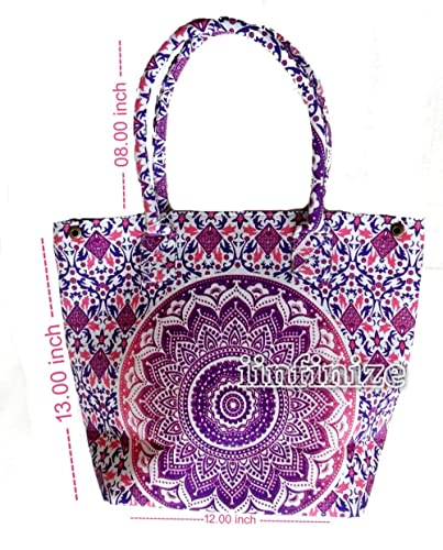 Amazon.com: Bolso de mano indio de Mandala Ombre para la ...