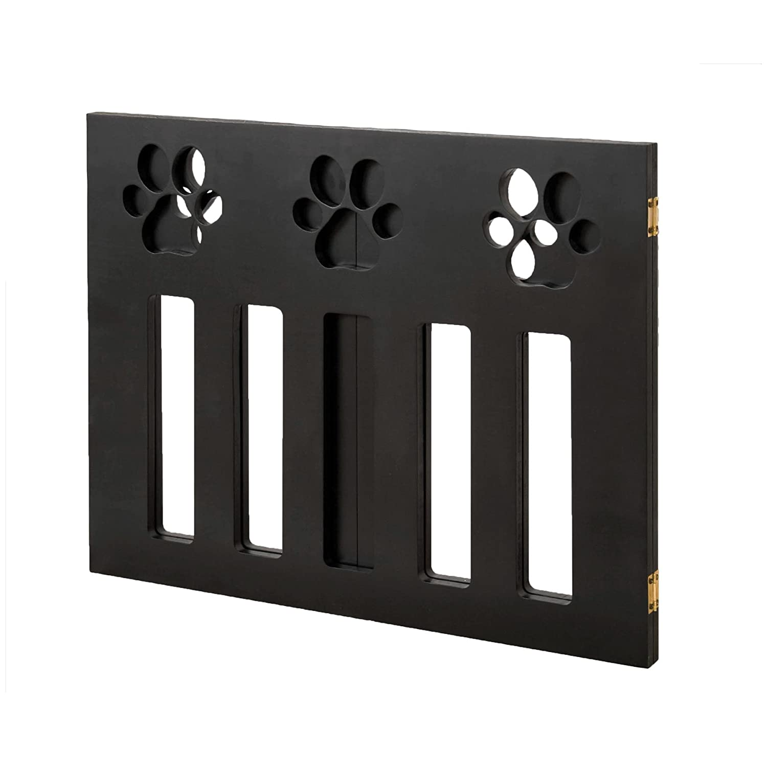 White Pet or Dog Gate Barrier 3 Panel 19 Tall 46 Wide Wood Modern Accent Decor