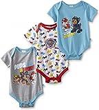 Ex-Store Baby Boys 3 Pack Bodysuits Paw Patrol Batman Novelty Rompers Vests