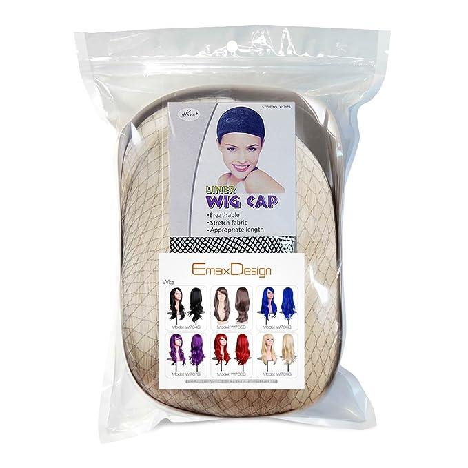 EmaxDesign Peluca de mujer de 70 cm de longitud Melena larga y con volumen, de estilo ondulado y resistente al calor, incluye rejilla para el pelo y peine ...