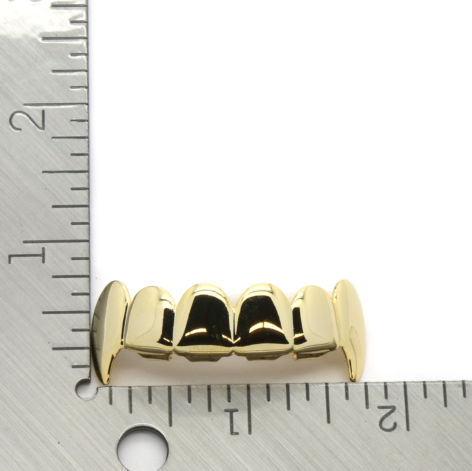 14K Gold Plated Hip Hop Fashion Top Fang Grillz
