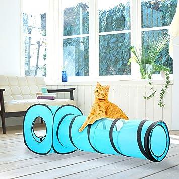 Pawise Cat Toys - Túnel para Gatos y Cubos de Gato Plegables para Interiores y Exteriores: Amazon.es: Productos para mascotas