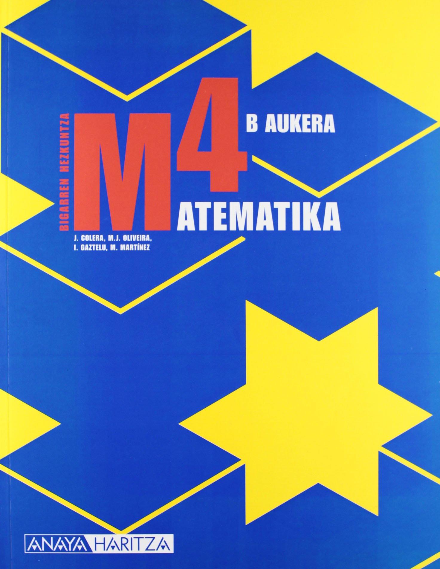 Read Online (EUS).(08).MATEMATIKA 4ºESO.DBH.(OPC.B).AUKERA pdf epub