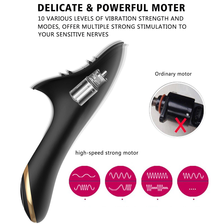 Vibratoren für Sie Klitoris Stimulation mit Atmungslicht bringt zusätzlichen Flirting-Effekt,James Love Silikon Vibrator mit 10 Vibrationsmodi, Sexspielzeug für frauen und paare,Wasserdicht,leise (Schwarz)
