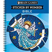 Brain Games - Sticker by Number: Bible (Geometric Stickers)