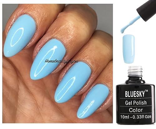 Bluesky Pastel Neon 03 Pastel Neon 3 Light Baby Blue Nail Gel Polish ...