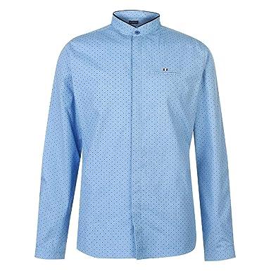 0d5eda459f0aaf Kangol Mens Long Sleeve Grandad Shirt: Amazon.co.uk: Clothing