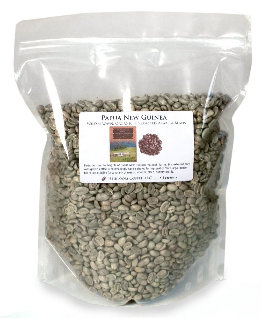 B00U70VCWI Papua New Guinea Organic Wild-grown Unroasted Green Coffee Beans (3 LB) 71AI4OrbTwL