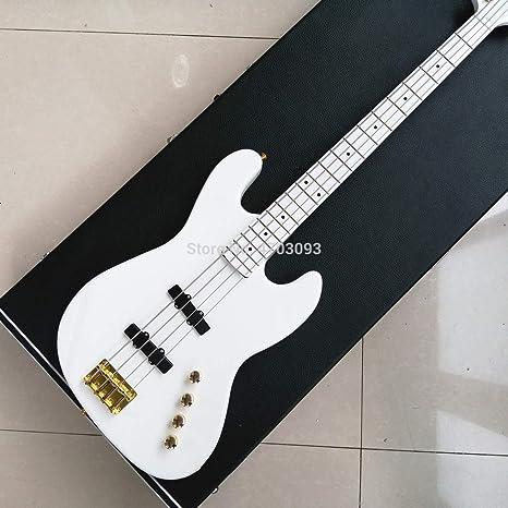 4 Cuerdas Bajo Eléctrico, Modelo Luna, Color blanco Bajo Guitarra ...