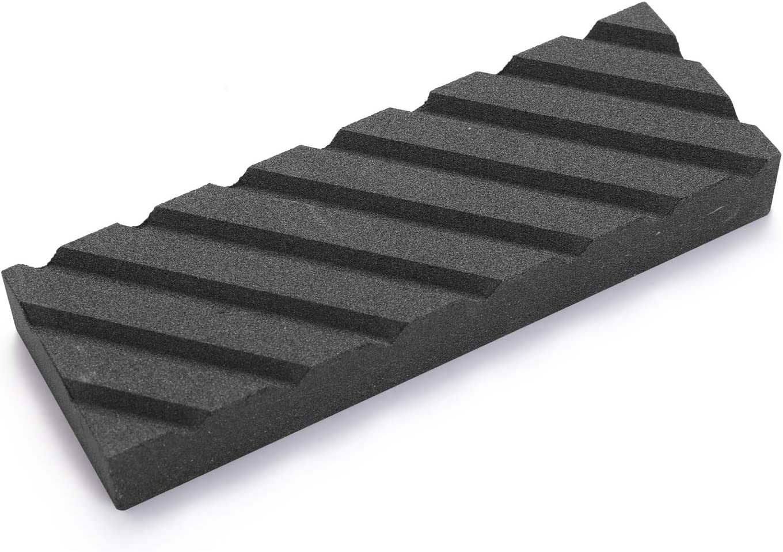 KKmoon Piedra de afilar de doble cara 400//1000# 3000//8000# Grit Piedra de afilar con piedra aplanada soporte de silicona antideslizante para cuchillos afilados