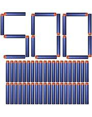 AMOSTING Foam Bullets Refill Dart Pack for N-Strike Elite Blasters Nerf Guns Standard Size–500PCS Blue