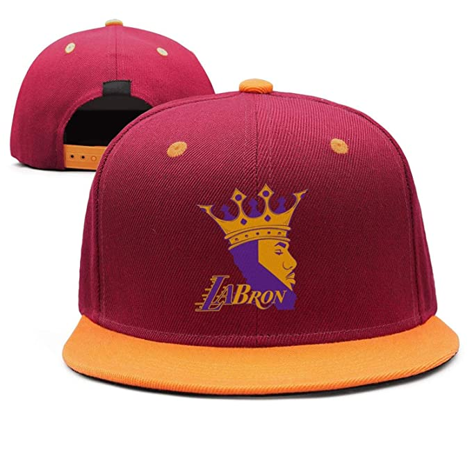 f905be92d26 Amazon.com  La-bron-23-CROWN Flat Bill Adjustable Hat Baseball Snap ...