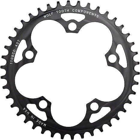 Wolf Tooth 110BCD Plato Bicicleta, Negro, 40: Amazon.es: Deportes ...